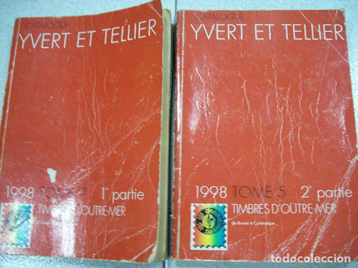2 LIBROS DE TIMBRES DÓUTRE-MER. 1998 (Filatelia - Sellos - Catálogos y Libros)