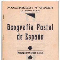 Sellos: GEOGRAFIA POSTAL DE LOS PUEBLOS D ESPAÑA REPUBLICANA IMPRENTA DOMENECH VALENCIA INTERVENIDA UGT CNT . Lote 67336169