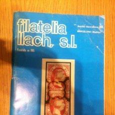 Sellos: CATALOGO DE VENTA 550 - FILATELIA LLACH - MARZO 1978. Lote 67910249