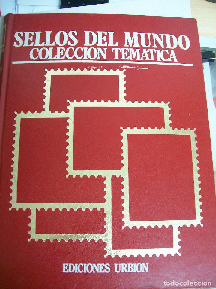 SELLOS DEL MUNDO. COLECCIÓN TEMÁTICA. EDICIONES URBIÓN.1983. TOMO I. ANIMALES,PLANTAS Y ARTE. (Filatelia - Sellos - Catálogos y Libros)