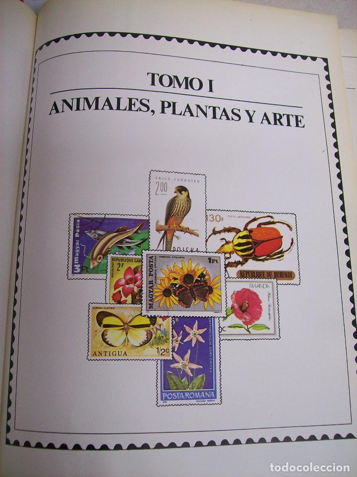 Sellos: SELLOS DEL MUNDO. Colección Temática. Ediciones Urbión.1983. Tomo I. Animales,Plantas y Arte. - Foto 2 - 68061393