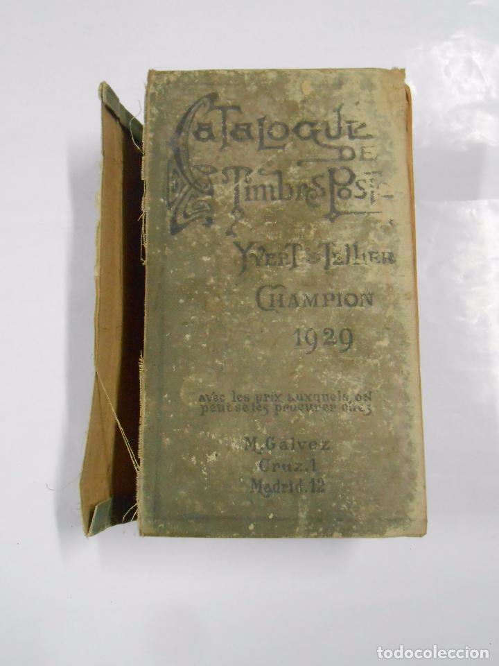 Sellos: CATALOGO DE SELLOS POSTALES. YVERT & TELLIER. CHAMPION 1929. CATALOGUE TIMBRES POST. TDK281 - Foto 6 - 70313901