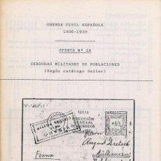 Sellos: PEQUEÑA OFERTA DE CENSURAS MILITARES. AÑOS 80. CONFECCIONADA A MANO CON FOTOCOPIAS.. Lote 147017433
