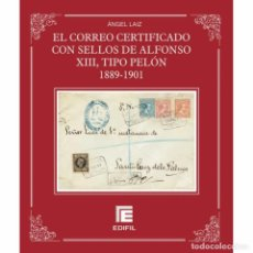 Sellos: EL CORREO CERTIFICADO CON SELLOS DE ALFONSO XIII, TIPO PELÓN 1889-1901 ANGEL LAIZ. Lote 84025016