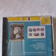 Sellos: CATALOGO DE SELLOS EN CD DE ESPAÑA Y ANDORRA 1850-2001. Lote 88818800