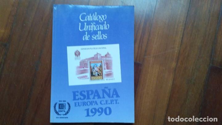 CATÁLOGO DE SELLOS DE ESPAÑA DE 1990 (Filatelia - Sellos - Catálogos y Libros)