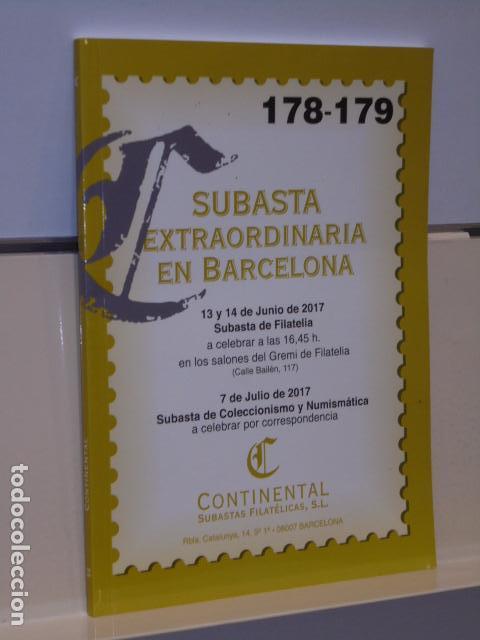 CATALOGO SUBASTA EXTRAORDINARIA EN BARCELONA JUNIO 2017 SUBASTA FILATELIA JULIO SUBASTA NUMISMÁTICA (Filatelia - Sellos - Catálogos y Libros)