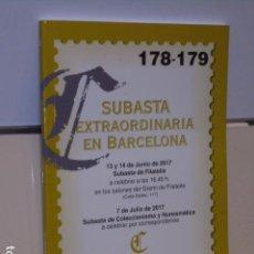 Sellos: CATALOGO SUBASTA EXTRAORDINARIA EN BARCELONA JUNIO 2017 SUBASTA FILATELIA JULIO SUBASTA NUMISMÁTICA. Lote 90557190