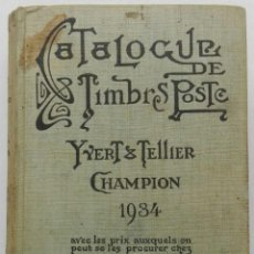 Sellos: CATALOGUE DE TIMBRES POSTE - YVERT & TELLIER CHAMPION 1934. Lote 93570170
