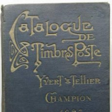 Sellos: CATALOGUE DE TIMBRES POSTE - YVERT & TELLIER CHAMPION 1927. Lote 93570445