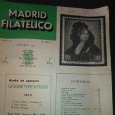 Sellos: REVISTA MADRID FILATELICO, N° 602 / 9 SEPTIEMBRE 1958. Lote 94865131