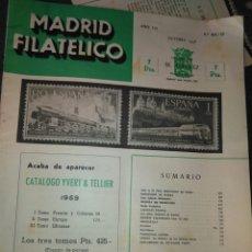 Sellos: REVISTA MADRID FILATELICO, OCTUBRE 1958- N° 603/10. Lote 94865247