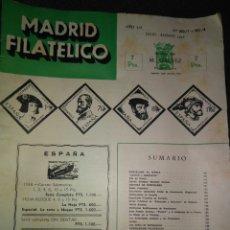 Sellos: REVISTA CATÁLOGO MADRID FILATELICO, N° 600/7 Y 601/8 JULIO AGOSTO 1958. Lote 94878092
