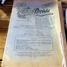 Sellos: REVISTA DE LA SOCIEDAD FILATELICA ARGENTINA, FEBRERO 1943,28 PAGINAS, RARA. Lote 95079287