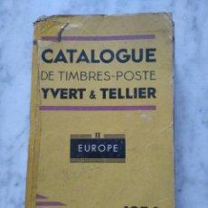 Sellos: CATALOGUE DE TIMBRES-POSTE YVERT TELLIER. 1956. Lote 95390311