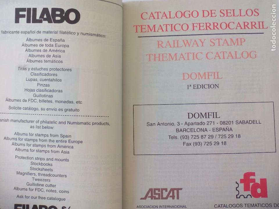 Sellos: Catalogo de sellos Ferrocarriles. 1ª edición. catalogue of Railway stamps. Domfil. - Foto 2 - 95557067