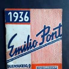 Sellos: CATALOGO DE SELLOS DE ESPAÑA Y PAISES DIVERSOS,AÑO 1936 (COMPL.64 PAG.) DE EMILIO PONT. Lote 96491467