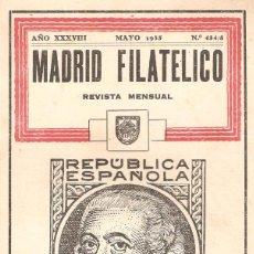 Sellos: REVISTA MADRID FILATÉLICO Nº 434/5. MAYO 1935. . Lote 96980919