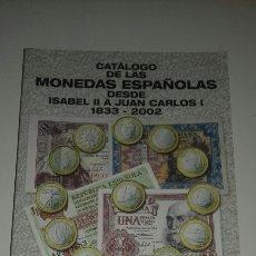 Sellos: CATALOGO MONEDAS ESPAÑOLAS 1833 2002 BILLETES 1783 2002 HNOS GUERRA 2003 PESETA EURO. Lote 96993918