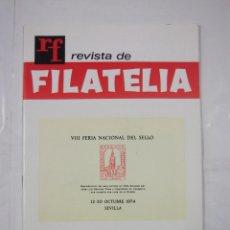 Sellos - REVISTA DE FILATELIA Nº 79. OCTUBRE 1974. VIII FERIA NACIONAL DEL SELLO. TDKR43 - 97212471