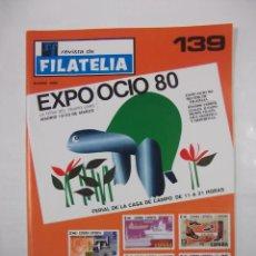 Sellos - REVISTA DE FILATELIA Nº 139. MARZO 1980. EXPO OCIO 80' MADRID. TDKR43 - 97212611