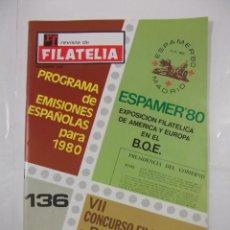 Sellos - REVISTA DE FILATELIA Nº 136. ESPAMER 80'. VII CONCURSO FILATELICO DE RF. diciembre 1979 TDKR43 - 97212683