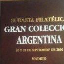 Sellos: .OFERTA CATALOGO GRAN SUBASTA COLECCION ARGENTINA, AFINSA, 570 PAGINAS. Lote 97367551