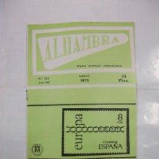 Sellos: ALHAMBRA. REVISTA FILATELICA INTERNACIONAL. Nº 255. AÑO XXII. MARZO 1971. TDKR42. Lote 97427059