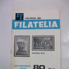 Sellos: REVISTA DE FILATELIA Nº 80. NOVIEMBRE 1974. NAVIDAD. TDKR41. Lote 97427559