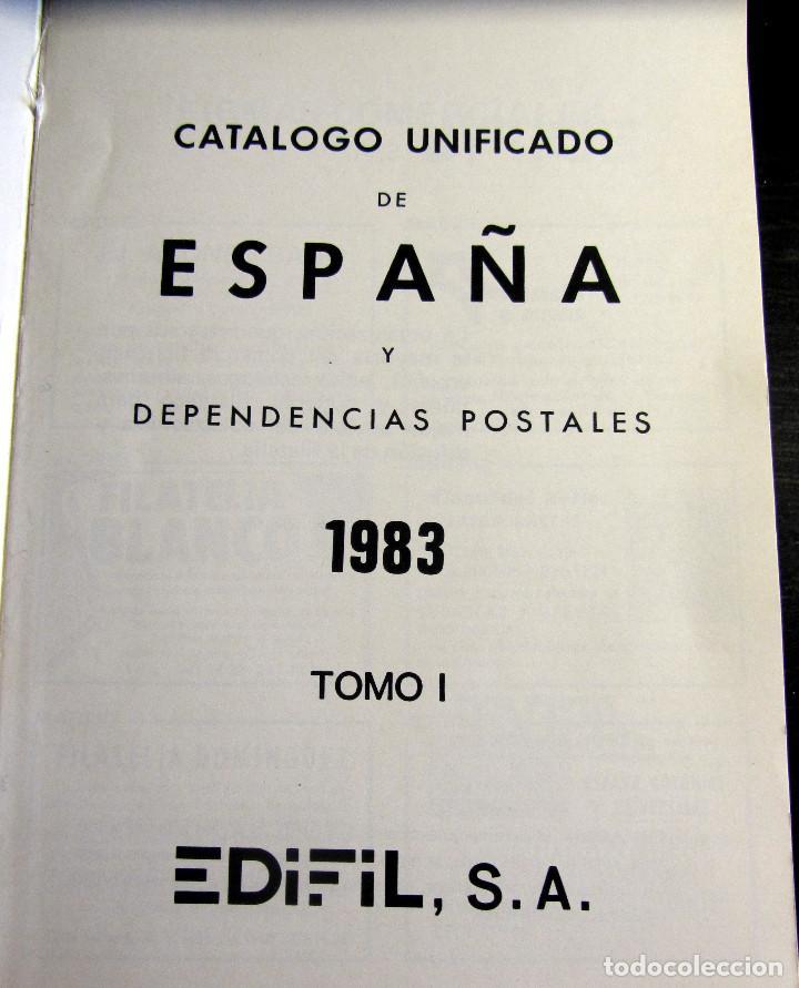Sellos: CATALOGO UNIFICADO TOMO I EDIFIL 1983 FILATELIA SELLOS - Foto 2 - 97508067