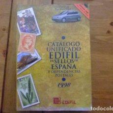 Sellos: CATALOGO ESPAÑA Y DEPENDENCIAS CATALOGUE ESPAGNE 1998. Lote 98743351