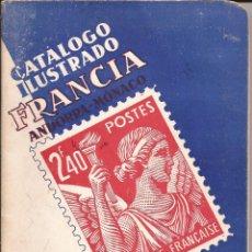 Sellos: 1953 CATALOGO ILUSTRADO SELLOS FRANCIA, ANDORRA Y MONACO 50 PAGINAS - RICARDO DE LAMA -CURIOSIDAD. Lote 98992211