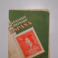 Sellos: CATALOGO ILUSTRADO DE ESPAÑA. SELLOS. EDICION 1953. RICARDO DE LAMA. TDKP2. Lote 101928327