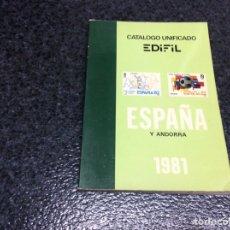 Sellos: CATALOGO UNIFICADO ESPAÑA Y ANDORRA, EDIFIL 1981. Lote 102003775
