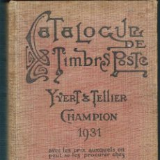 Sellos: CATALOGUE DE TIMBRES POSTE YVERT & TELLIER. Lote 102979075