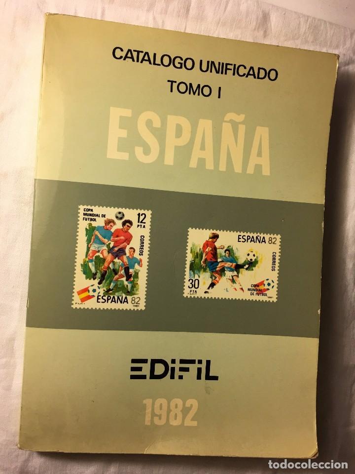 RA140 PLIEGO DE SELLO SELLOS LIBRO CATALOGO UNIFICADO TOMO I EDIFIL 1982 Y SELLOS (Filatelia - Sellos - Catálogos y Libros)