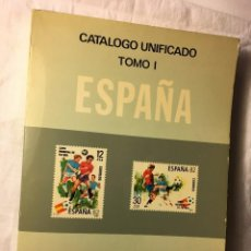 Sellos: RA140 PLIEGO DE SELLO SELLOS LIBRO CATALOGO UNIFICADO TOMO I EDIFIL 1982 Y SELLOS. Lote 103058567