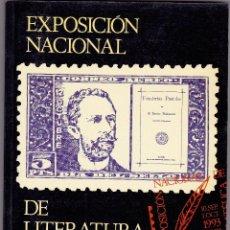 Sellos: EXPOSICION NACIONAL DE LITERATURA FILATÉLICA. HISTORIA DE LA LITERATURA FILATÉLICA ESPAÑOLA (FCO. AR. Lote 107789719