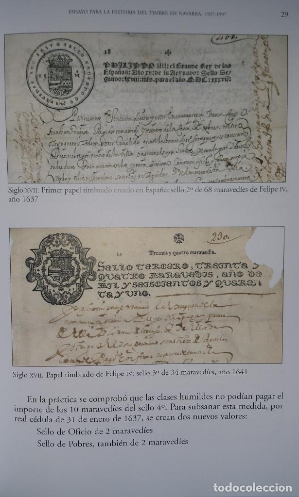 Sellos: Catálogo Fiscales. Ensayo para la historia del timbre en Navarra 1927-1997. Pequeño defecto cubierta - Foto 5 - 108413735