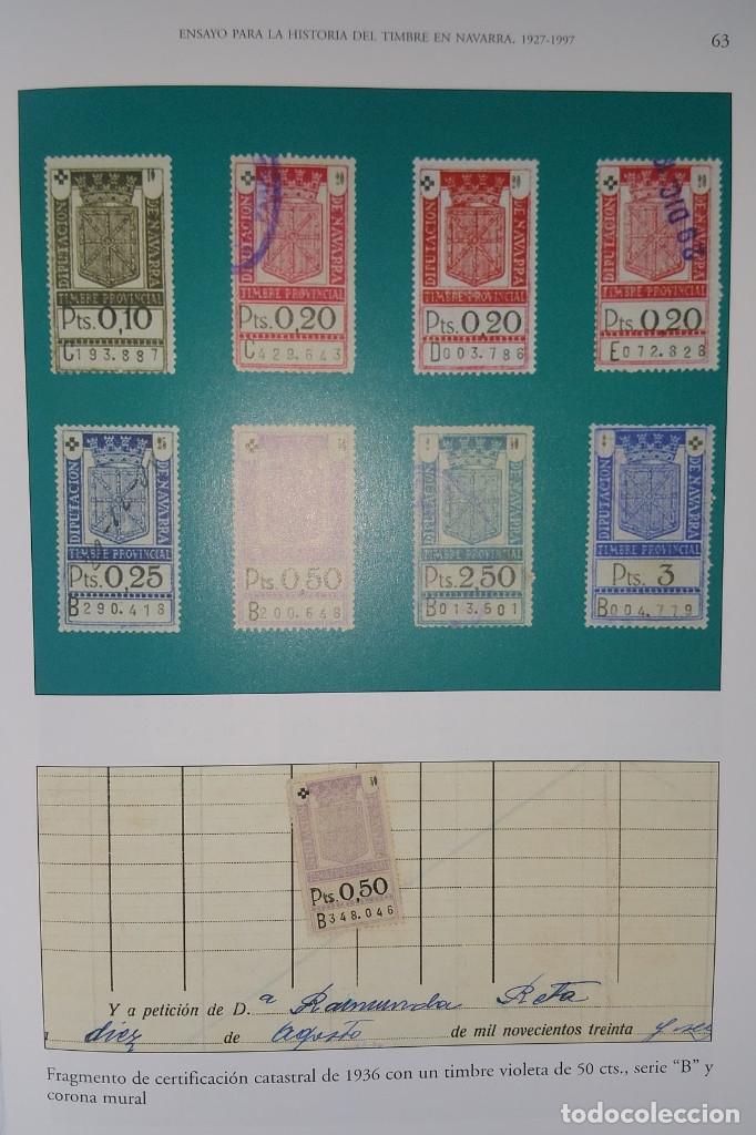 Sellos: Catálogo Fiscales. Ensayo para la historia del timbre en Navarra 1927-1997. Pequeño defecto cubierta - Foto 6 - 108413735