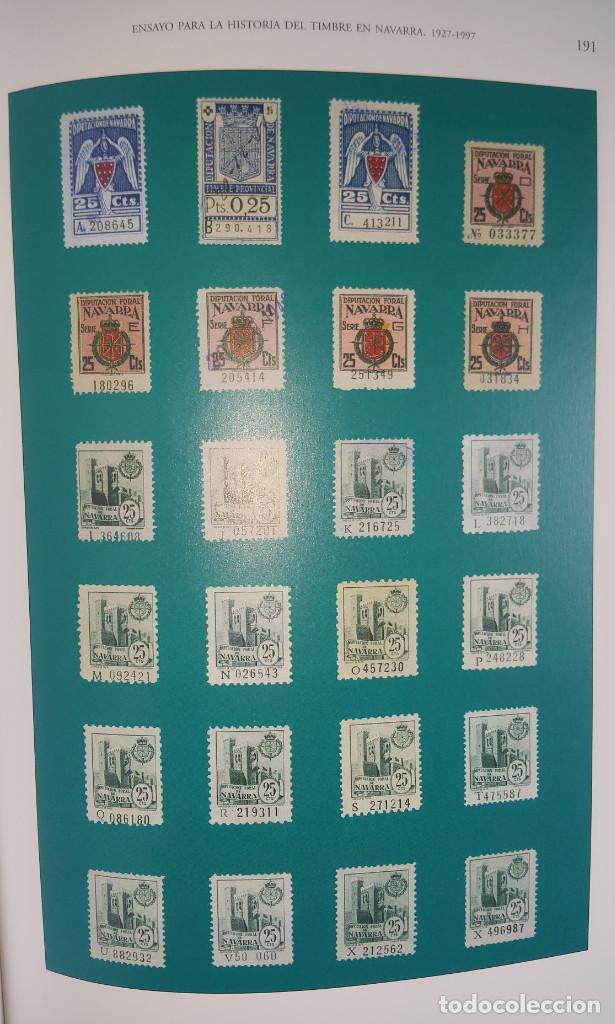 Sellos: Catálogo Fiscales. Ensayo para la historia del timbre en Navarra 1927-1997. Pequeño defecto cubierta - Foto 7 - 108413735