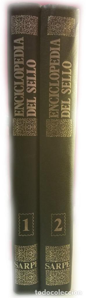 ENCICLOPEDIA DEL SELLO EN 2 VOLÚMENES DE SARPE (Filatelia - Sellos - Catálogos y Libros)