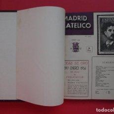 Sellos: MADRID FILATÉLICO 1956 - TOMO ENCUADERNADO CON LAS 12 REVISTAS DEL AÑO 1956 COMPLETO - ED. M. GÁLVEZ. Lote 110184183