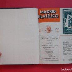 Sellos: MADRID FILATÉLICO 1957 - TOMO ENCUADERNADO CON LAS 12 REVISTAS DEL AÑO 1957 COMPLETO - ED. M. GÁLVEZ. Lote 110185691