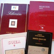 Francobolli: 4 LIBROS DE SUBASTAS DE SELLOS. Lote 110935567