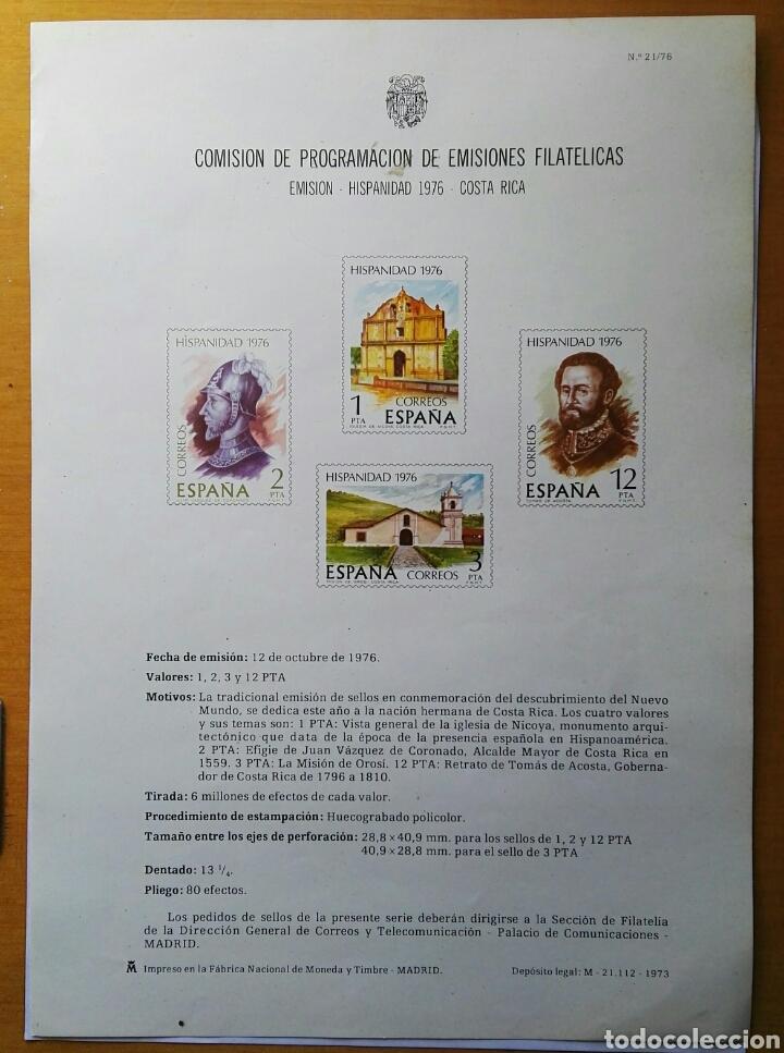 COMISIÓN DE PROGRAMACIÓN DE EMISIONES FILATELICAS N° 21 1976 (Filatelia - Sellos - Catálogos y Libros)