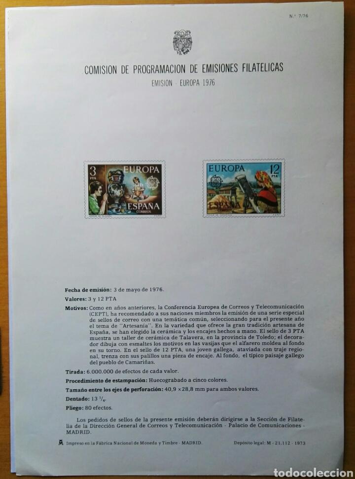 COMISIÓN DE PROGRAMACIÓN DE EMISIONES FILATELICAS N° 7 1976 (Filatelia - Sellos - Catálogos y Libros)