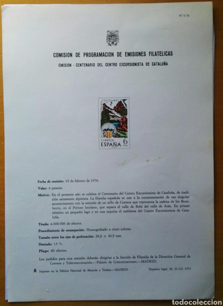 COMISIÓN DE PROGRAMACIÓN DE EMISIONES FILATELICAS N° 3 1976 (Filatelia - Sellos - Catálogos y Libros)