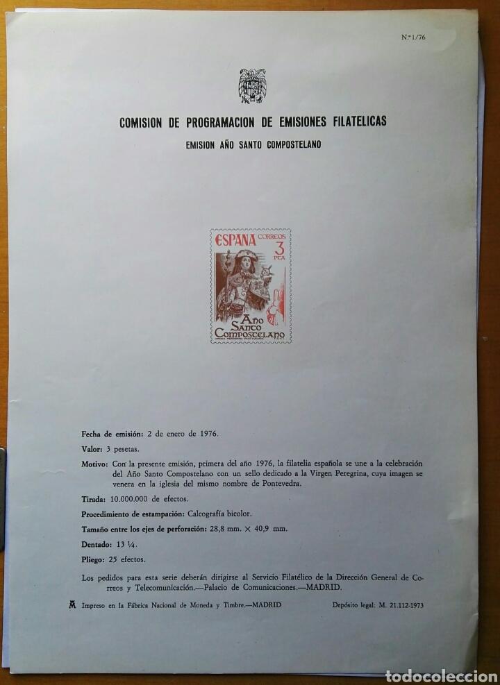 COMISIÓN DE PROGRAMACIÓN DE EMISIONES FILATELICAS N° 1 1976 (Filatelia - Sellos - Catálogos y Libros)