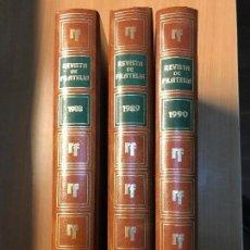 Sellos: 33 REVISTAS CRONICA FILATELICA EN 3 TOMOS ENCUADERNADAS AÑOS 1988-1989-1990. Lote 113502323
